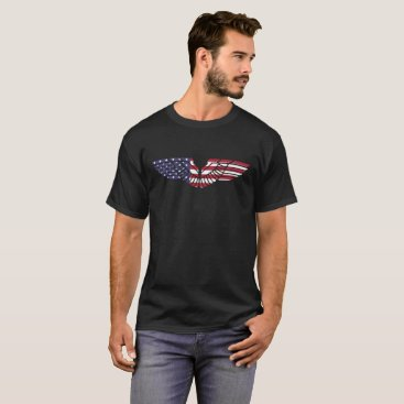 USA Themed US Flag Eagle Wings T-Shirt