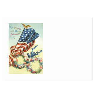 US Flag Eagle Wreath Flower Memorial Day Large Business Card