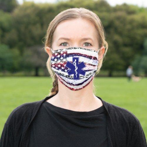 US Flag EMT Logo Fire and Rescue Reusable Cloth Face Mask