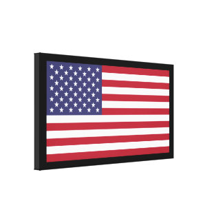 US Flag Extra Large Premium Stretched Canvas Print