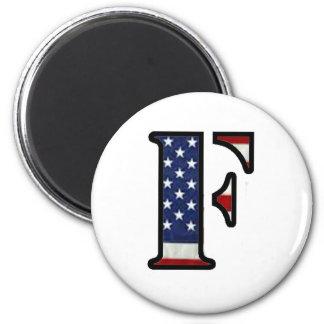 """US Flag """"F"""" Magnets"""