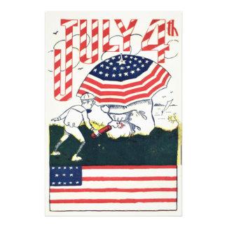 US Flag Fireworks Firecracker Prank Photo Print