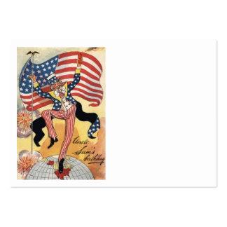US Flag Fireworks Firecracker Uncle Sam Business Cards