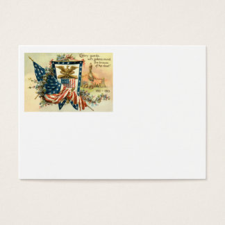 US Flag Flower Civil War Eagle Memorial Day Business Card