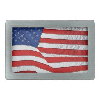 US Flag for American Patriots Belt Buckle