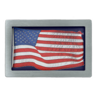 US Flag for American Patriots Belt Buckle