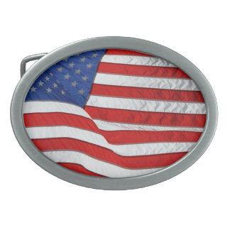 US Flag for American Patriots Belt Buckles