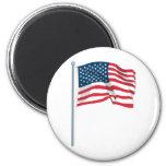 US Flag Fridge Magnets