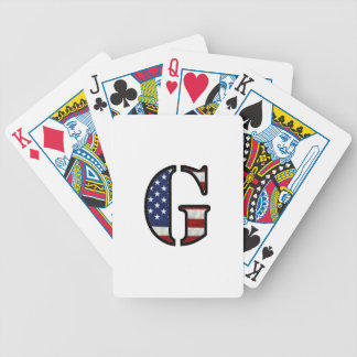 """US Flag """"G"""" Bicycle Playing Cards"""