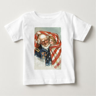 US Flag Girl Union Civil War Veteran Baby T-Shirt
