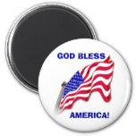 """US FLAG """"GOD BLESS AMERICA""""  Magnet"""