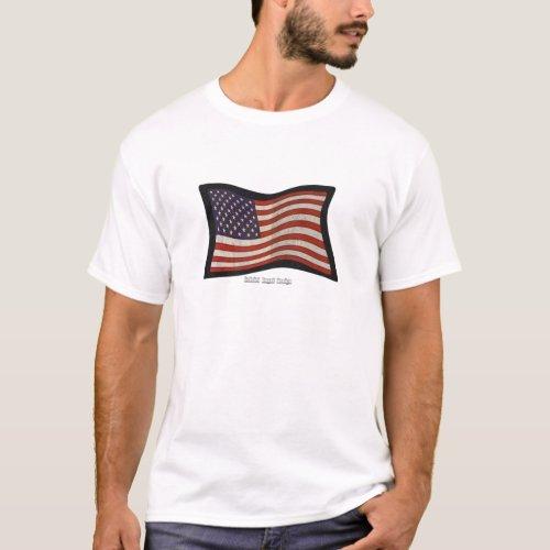 US Flag Graffiti T_Shirt