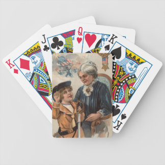 US Flag Grandmother Boy Sword Civil War Bicycle Playing Cards