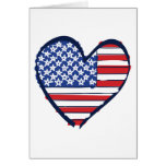 US-Flag Greeting Cards