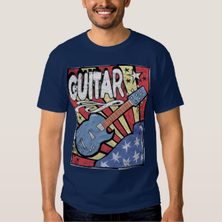 US Flag Guitar Distressed T-shirt