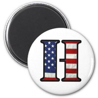 """US Flag """"H"""" Magnet"""