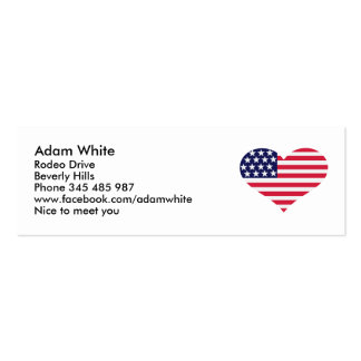 US flag heart Business Cards