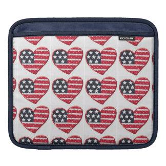 US flag heart iPad sleeve