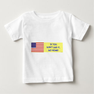us flag if you don't like it go home t-shirt
