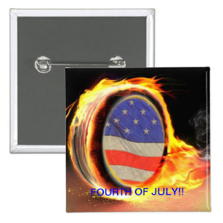 US Flag in a FLAMING TIRE  PIN