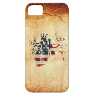 US Flag in Real heart iPhone 5 Case