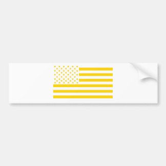 US flag in Ukrainian colors Bumper Sticker