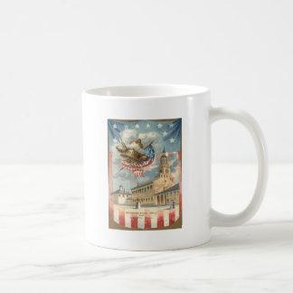 US Flag Independence Hall Liberty Bell Coffee Mug
