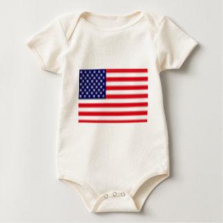 US FLAG Infant Organic Creeper