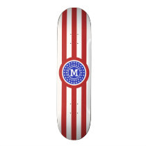 US Flag inspired custom monogram skateboards
