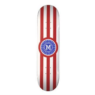 US Flag inspired custom monogram skateboards
