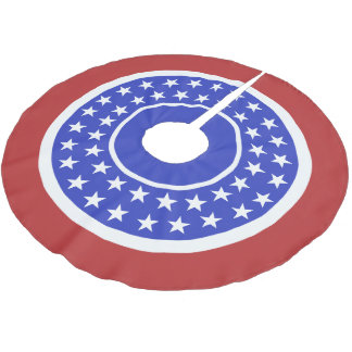 US Flag inspired tree skirt