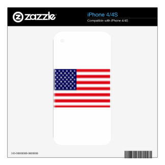 US FLAG iPhone 4/4S Skin For iPhone 4