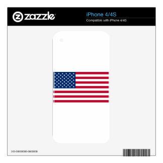 us flag iPhone 4S decals