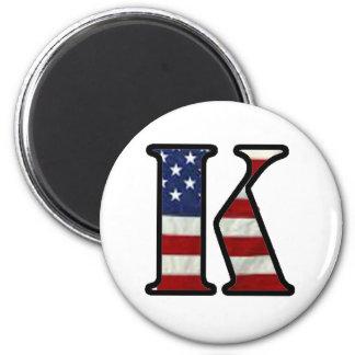 """US Flag """"K"""" Refrigerator Magnets"""
