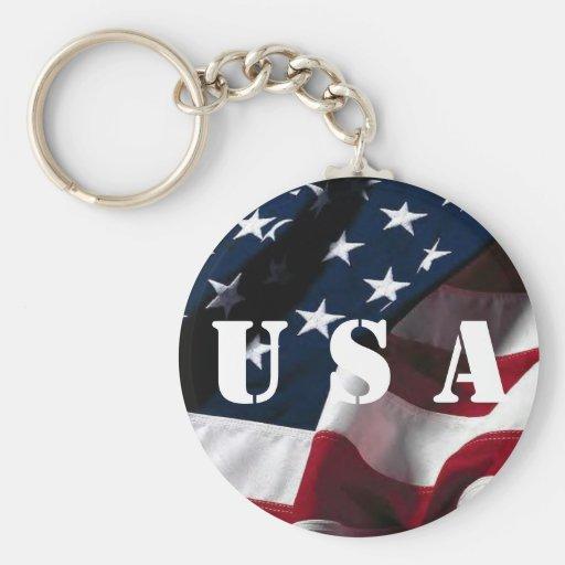 US flag Key Chain
