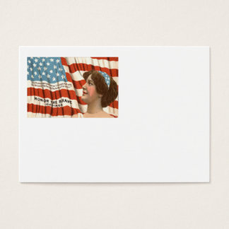 US Flag Lady Liberty Memorial Day Business Card