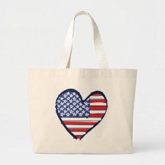 US-Flag Large Tote Bag