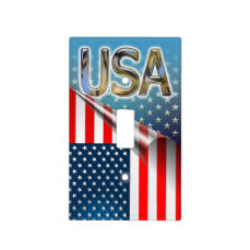 US Flag Light Switch Cover