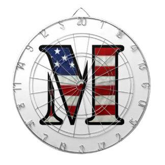"US Flag ""M"" Dartboard With Darts"