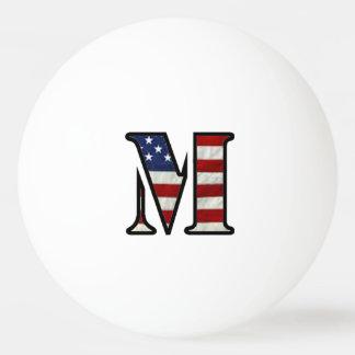 """US Flag """"M"""" Ping-Pong Ball"""