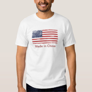 US flag made in China Tee Shirt