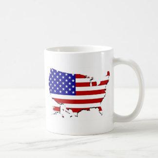 US Flag Map Coffee Mug