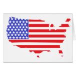 US FLAG MAP design Greeting Card