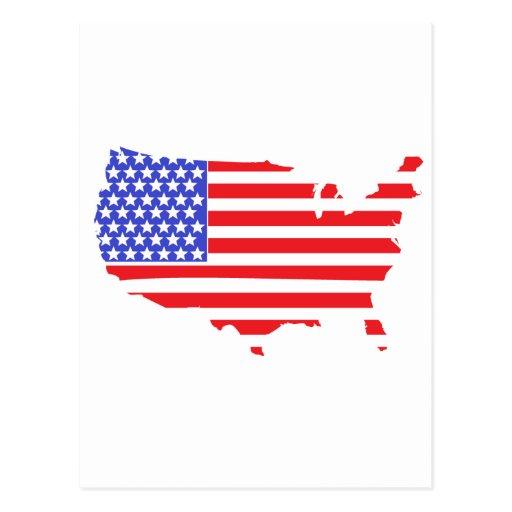 US FLAG MAP design Postcard