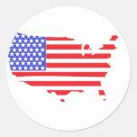 US FLAG MAP design Sticker