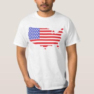 US FLAG MAP design T Shirt