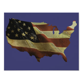 US flag/map gifts, add your background color 4.25x5.5 Paper Invitation Card
