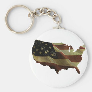 US flag/map gifts, add your background color Keychain