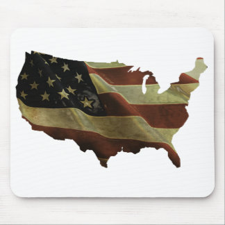 US flag/map gifts, add your background color Mouse Pad