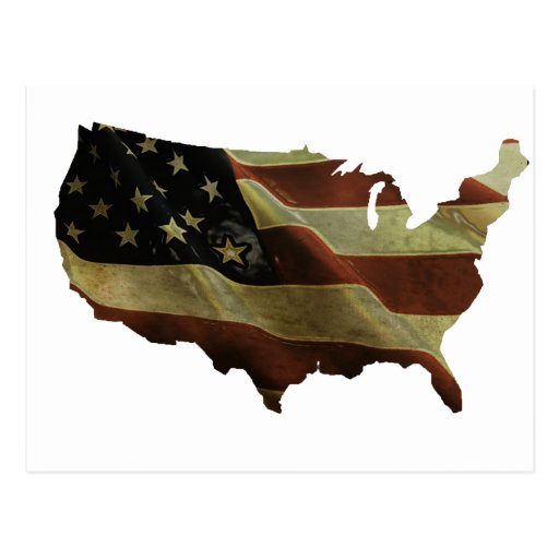 US flag/map gifts, add your background color Postcards